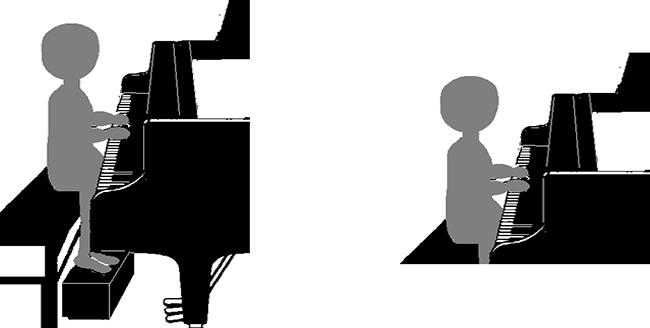 演奏者の右手が手前になるように(無理なときは逆でも可)横から全身が明瞭に映るようにして、固定位置(ズーム等はしない)で撮影してください。
